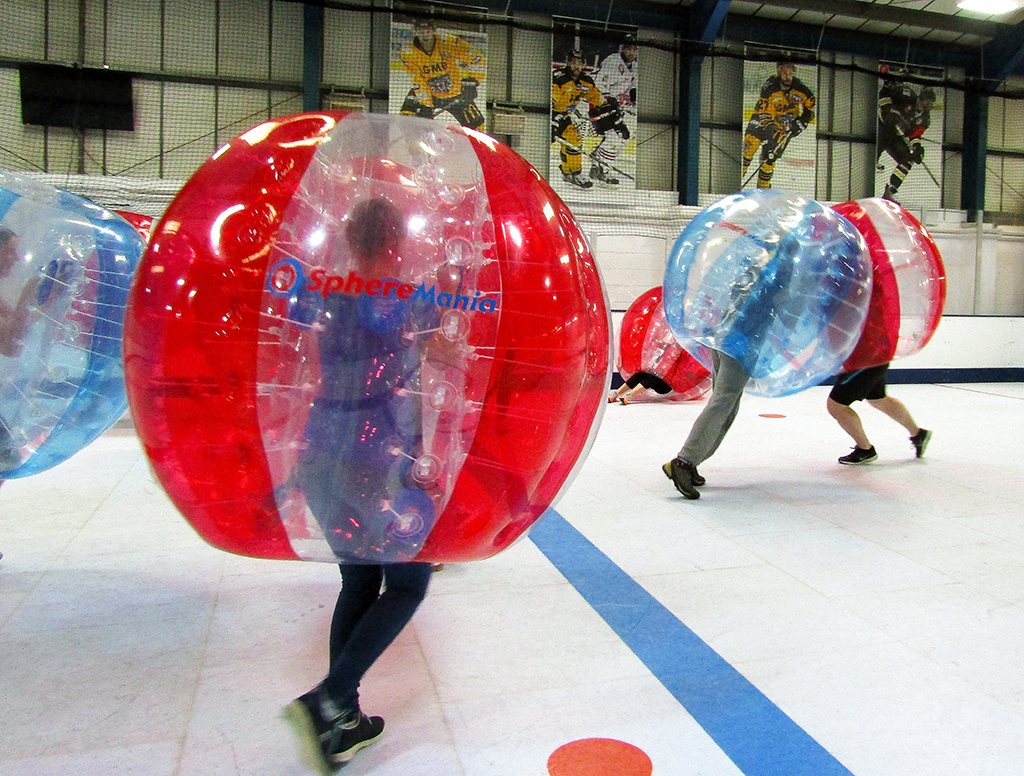 Midlands Bubble Football at our indoor venue in Derbyshire location