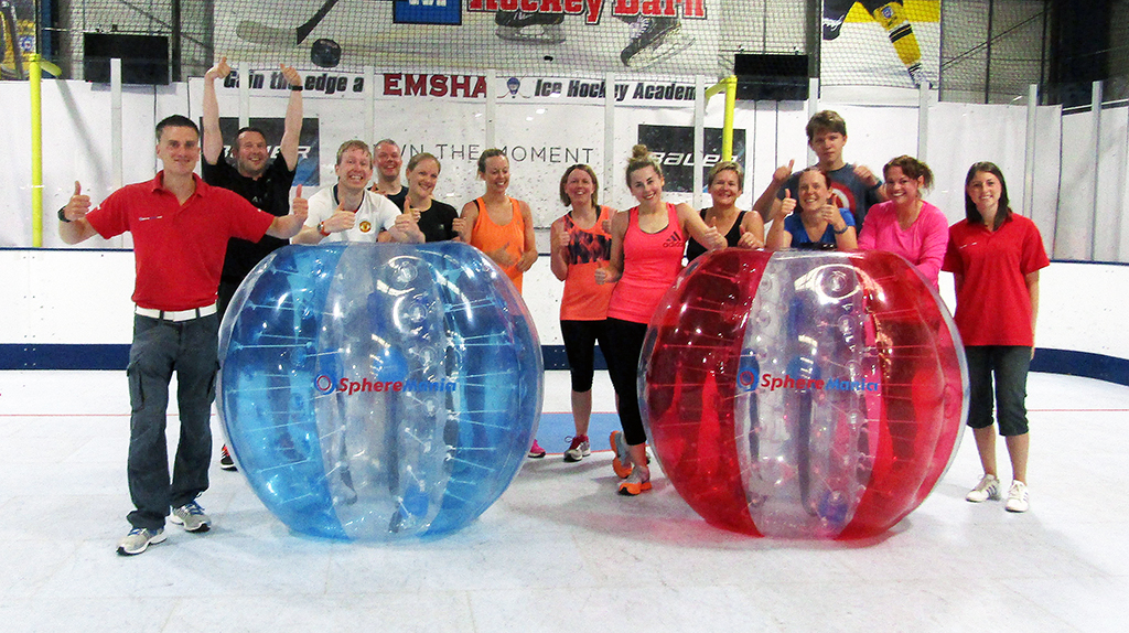 Bodyzorbing with Spheremania and Midlands bubble football